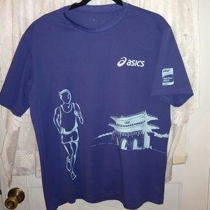 Asics size m t-shirt. 2012 Marathon Seoul Korea